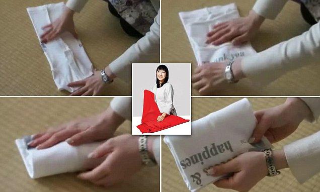 طريقة طي الملابس في اليابان