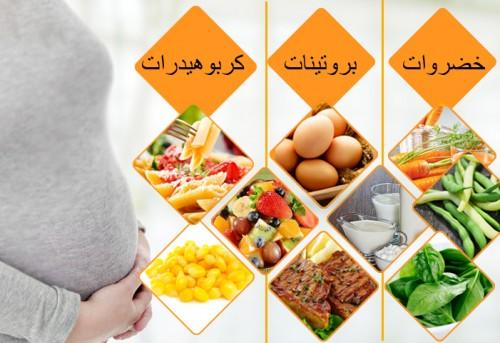 جدول غذاء الحامل