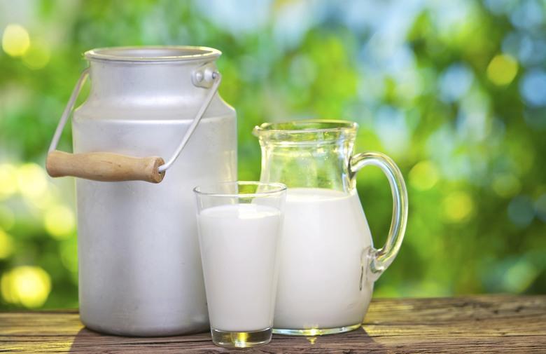 مكونات الحليب