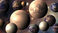 خصائص كواكب المجموعة الشمسية