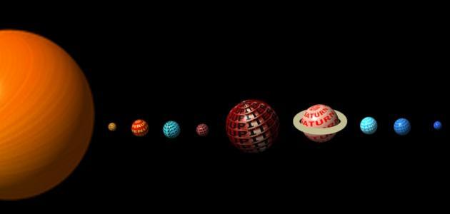 عناصر المجموعة الشمسية
