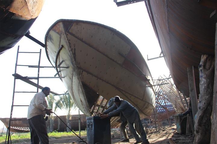 الخشب المستخدم في صناعة السفن