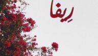 معنى اسم ريفاء