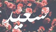 معنى اسم سعيد