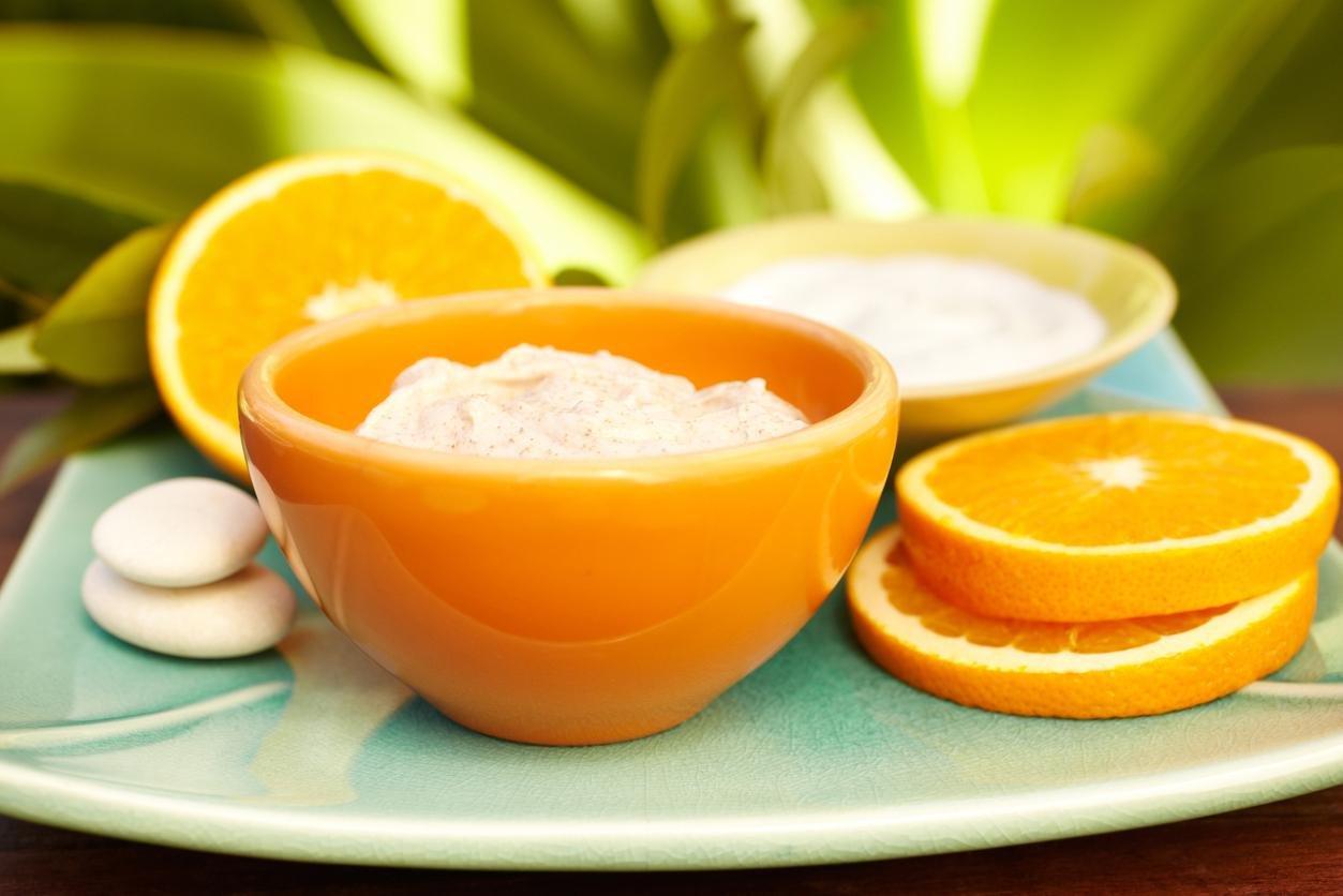 ماسك قشر البرتقال للوجه