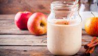 فوائد عصير التفاح بالحليب