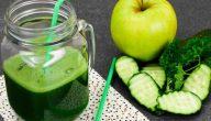 فوائد عصير الخيار والتفاح الأخضر