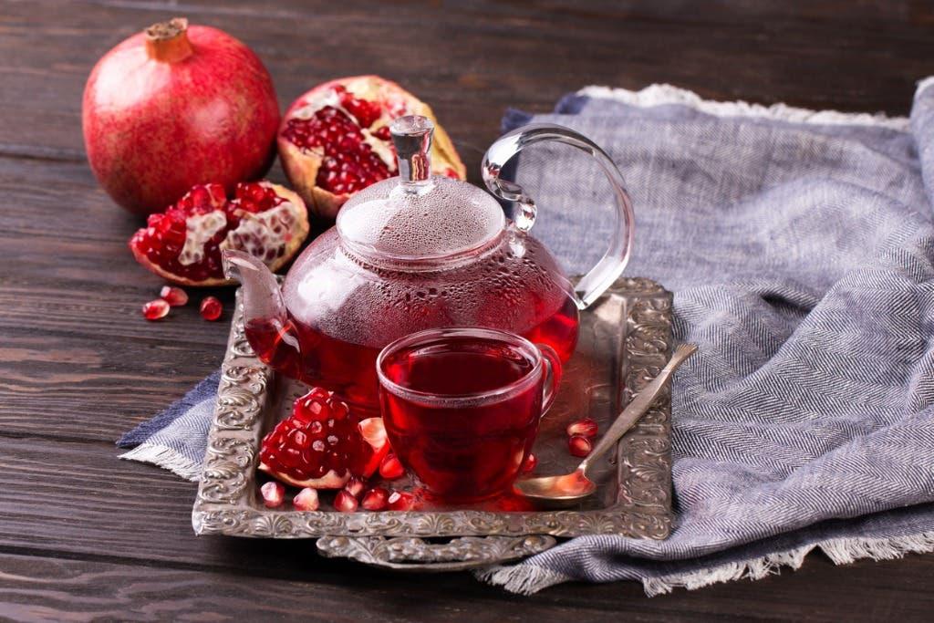 شاي الرمان وقت الدورة