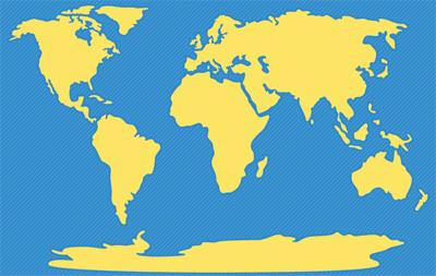 خريطة قارات العالم القديم صماء