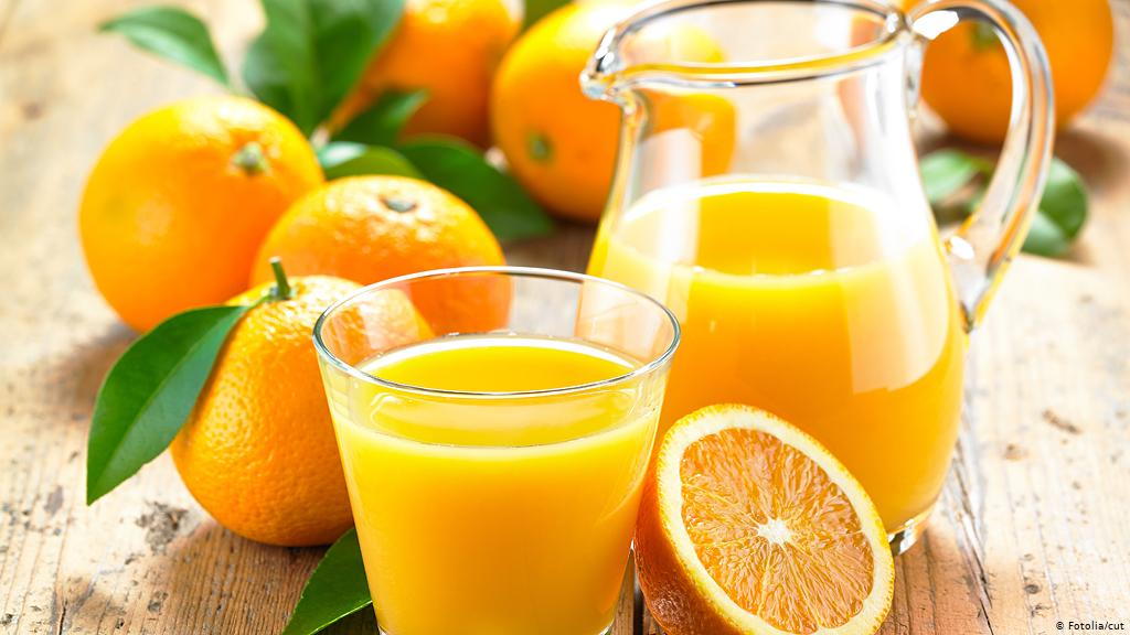 عصير البرتقال وقت الدورة