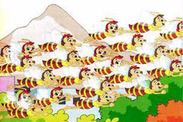 قصة تعاون النحل