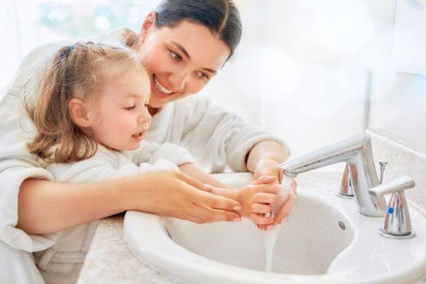 أهمية النظافة للاطفال